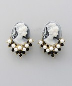 Cameo & Pearl Earrings