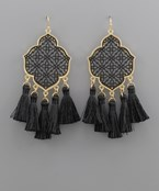 Filigree Arabesque Tassel Earrings