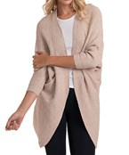 Solid Ribbed Cocoon Cardigan