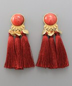 Circle & Tassel Earrings