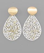 Teardrop Filigree Scattered Earrings