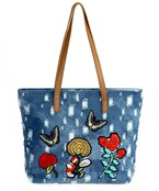 Embroidery Patch Denim Tote