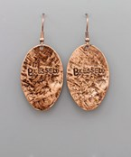 Blessed Oval Earrings