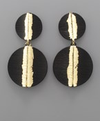 Painted Double Disc Earrings