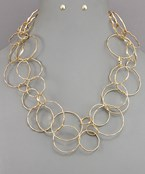 Multi Circle Link Necklace