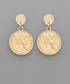 Large Coin Dangle Earrings