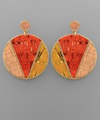 Cork Circle Earrings