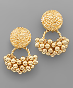 Dome & Ball Cluster Earrings