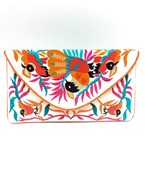 Tropical Bird Embroidered Clutch