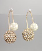 Pearl & Fireball Suspension Earings