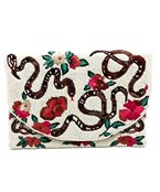 Rosy Boa Beaded Clutch