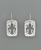 Fleur De Lis Cut Earrings
