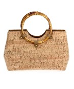 Bamboo Handle Cork Tote