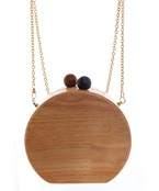 Wooden Circle Crossbody