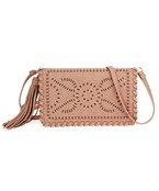Cut Out Leather Crossbody