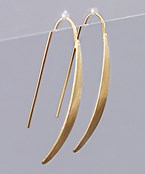Curved Bar Drop Earrings