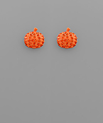 Pumpkin Crystal Earrings