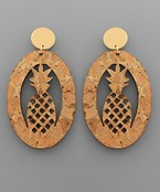 Pineapple Cork Earrings