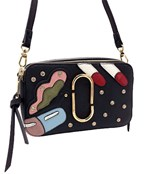 Studded Abstract Print Crossbody