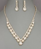 Teardrop & Marquise Pave Necklace