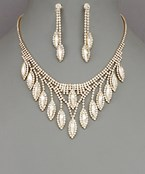 Multi Marquise Dangle Necklace