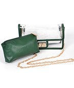 2-in-1 Clear Crossbody Bag