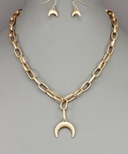 Crescent Chain Necklace