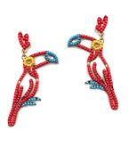 Bead Parrot Earrings