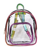 Multicolor Trim Clear Mini Backpack