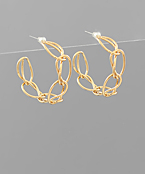 Brass Chain Shaped Wire Hoops