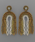 Arch Tassel Bead Earrings