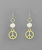 Pearl and Peace Earrings