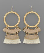 Cork & Tassel Earrings