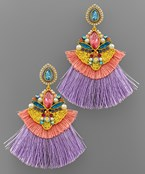 Beaded & Fan Earrings