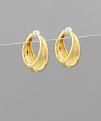 Gradual Gold Dipped Hoops