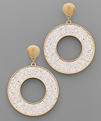 Glitter Circle Earrings