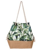 Tropical Print Canvas Tote