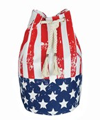 American Flag Canvas Backpack