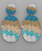 Bead Disk & Oval Earrings