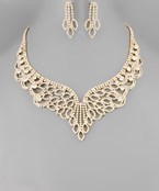 Crystal Marquise Lace Necklace