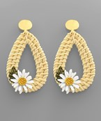 Daisy Rattan Earrings