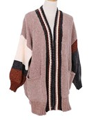 Color Block Knit Cardigan