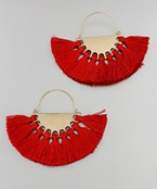 Wedge & Tassel Earrings