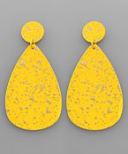 Brass Color Coat Paint Teardrop Earrings