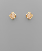 Stone Clover Earrings