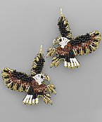 Bead Eagle Earrings