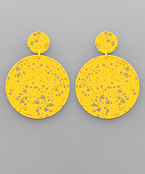 Color Coat Paint Disk Earrings