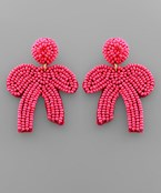 Seed Bead Bow Earrings