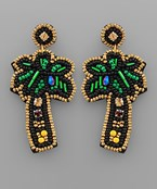 Beaded Palm Tree Earrings