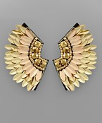 Curved Spike Wing Earrings